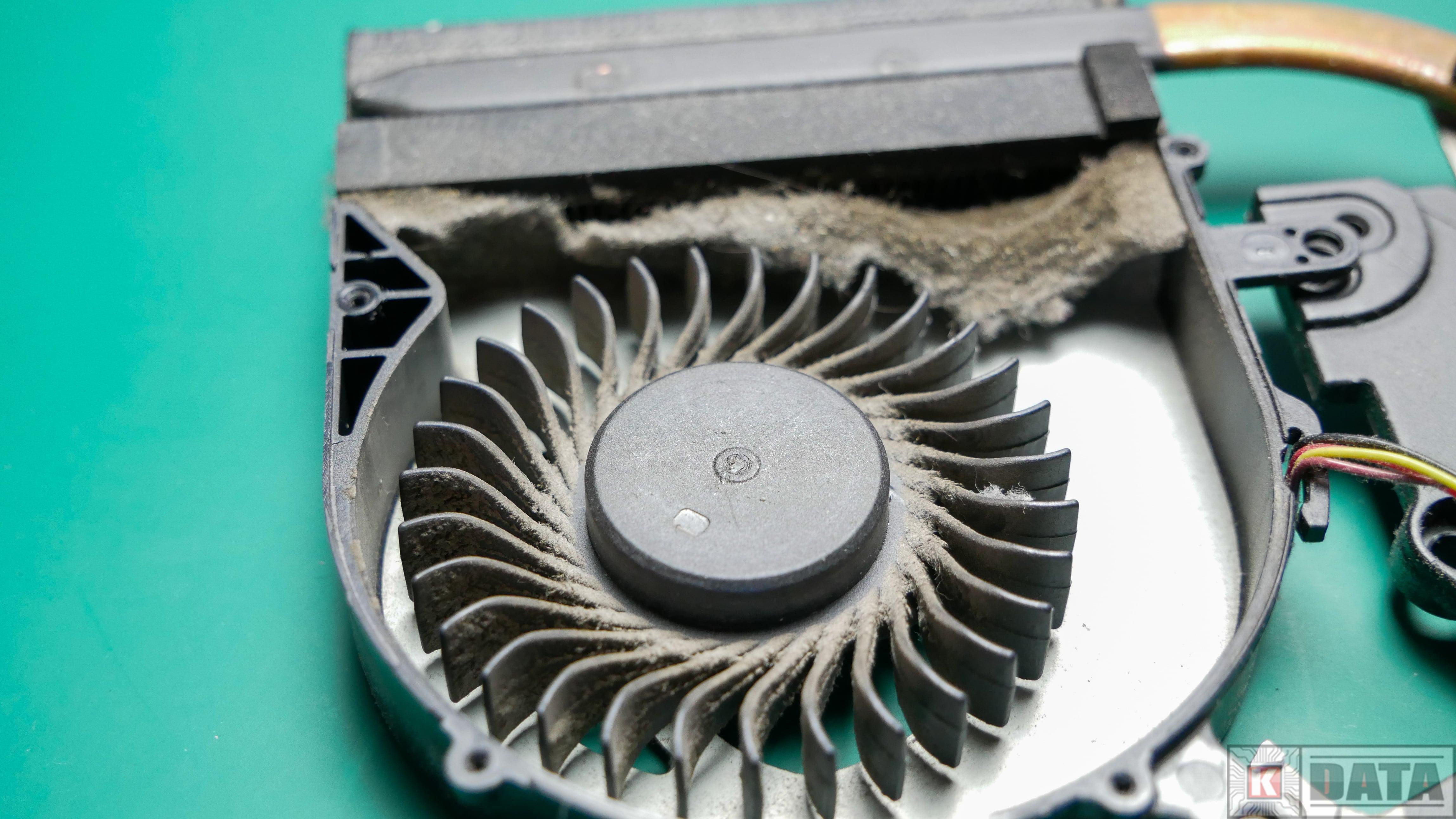 Lenovo Ideapad G500 brudny układ chłodzenia