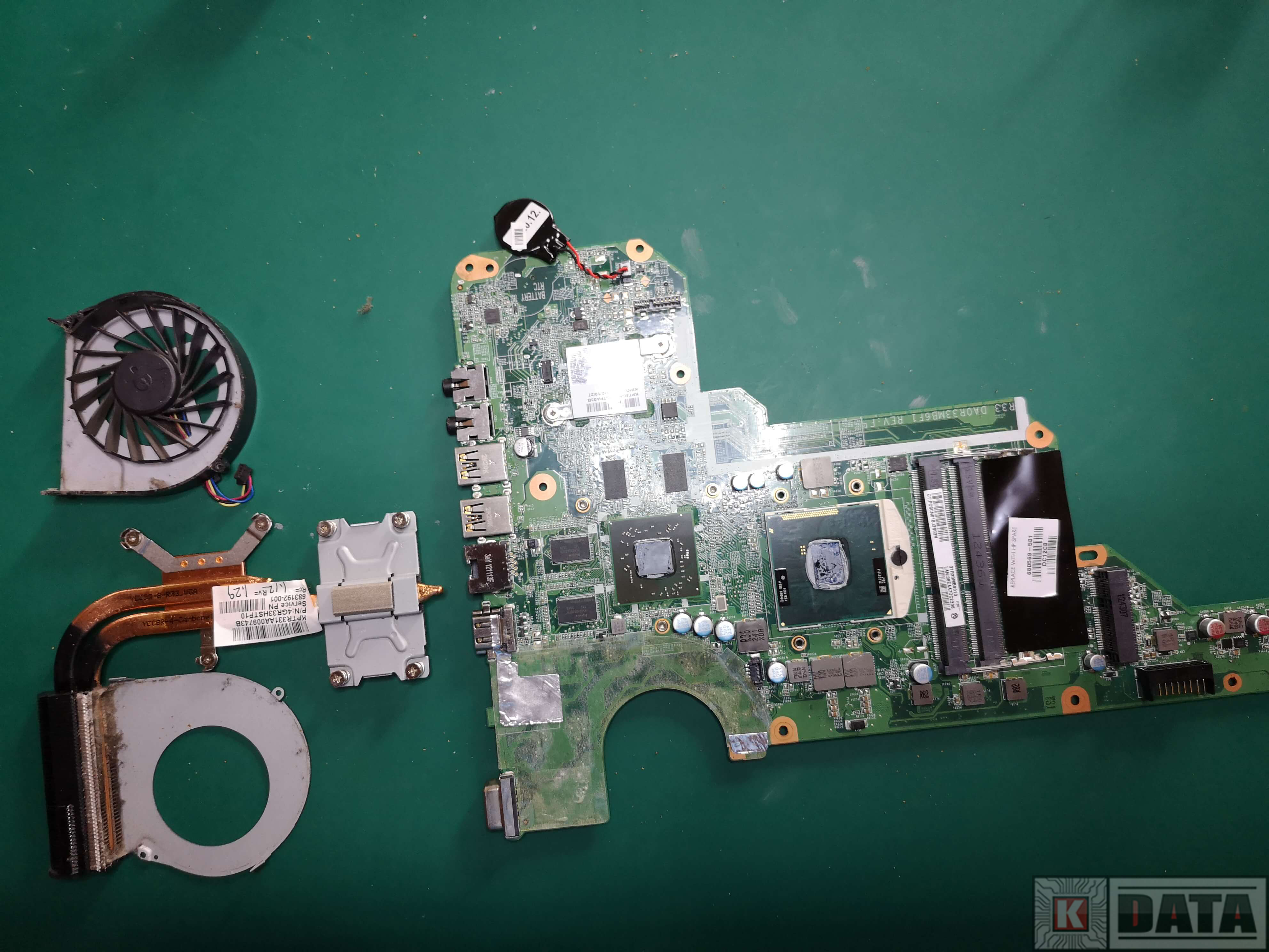 HP Pavilion G7 płyta główna, radiator i wentylator