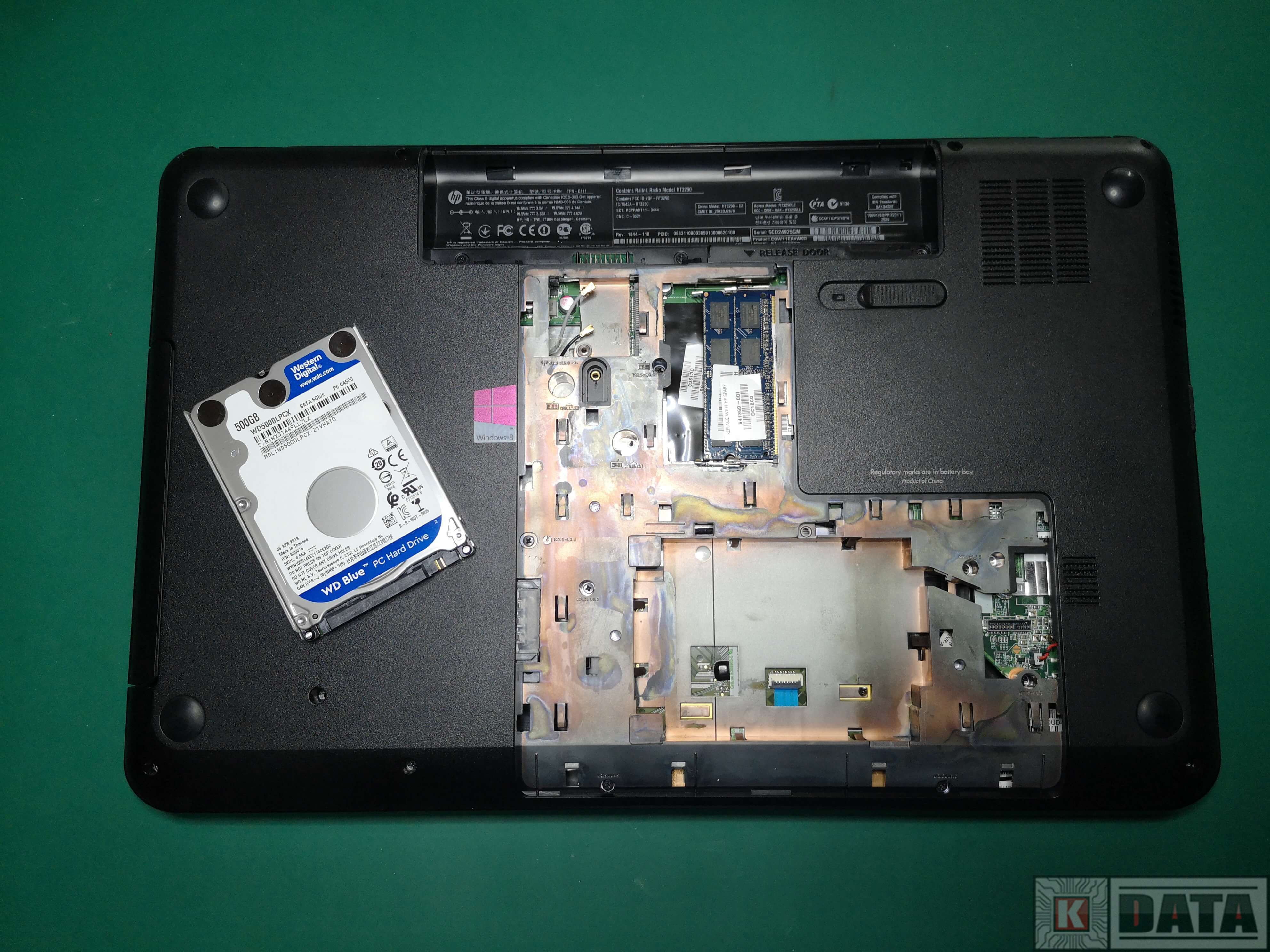 HP Pavilion G7 przed montażem HDD