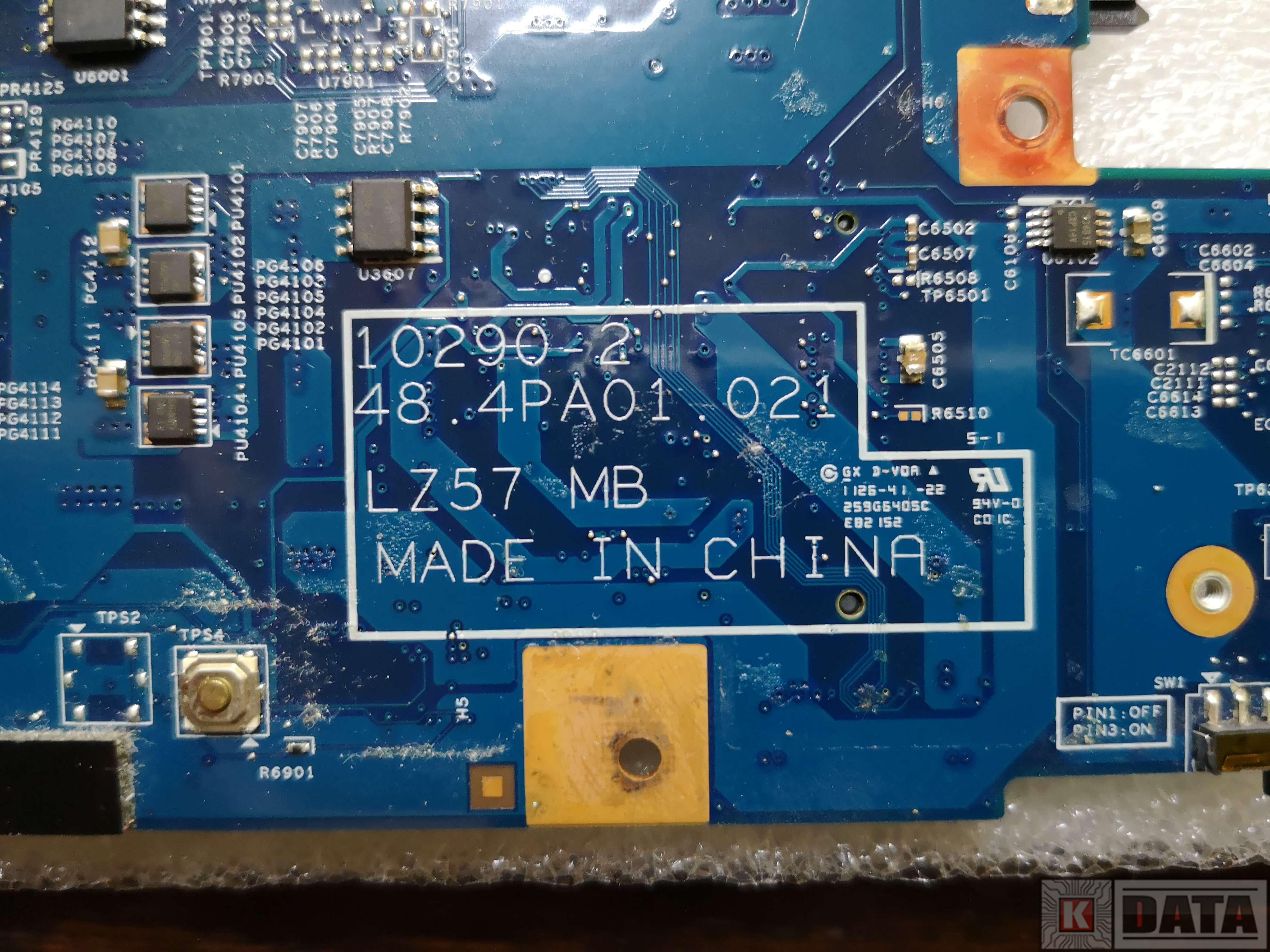 Lenovo IdeaPad Z570 płyta główna model