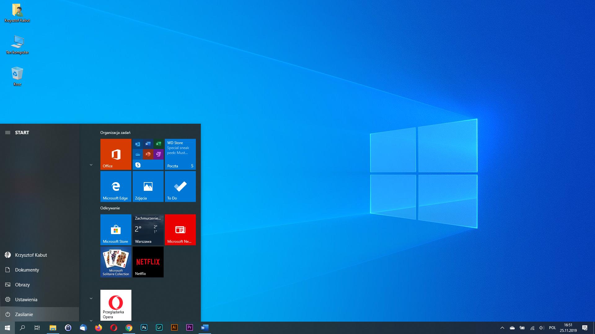 Windows 10 rozwijane opisy ikon