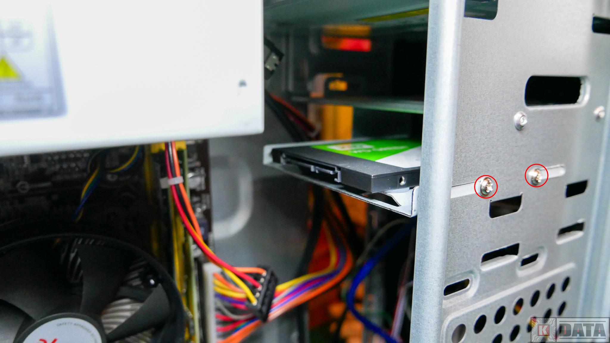 Dysk SSD WD Green zamontowany w obudowie
