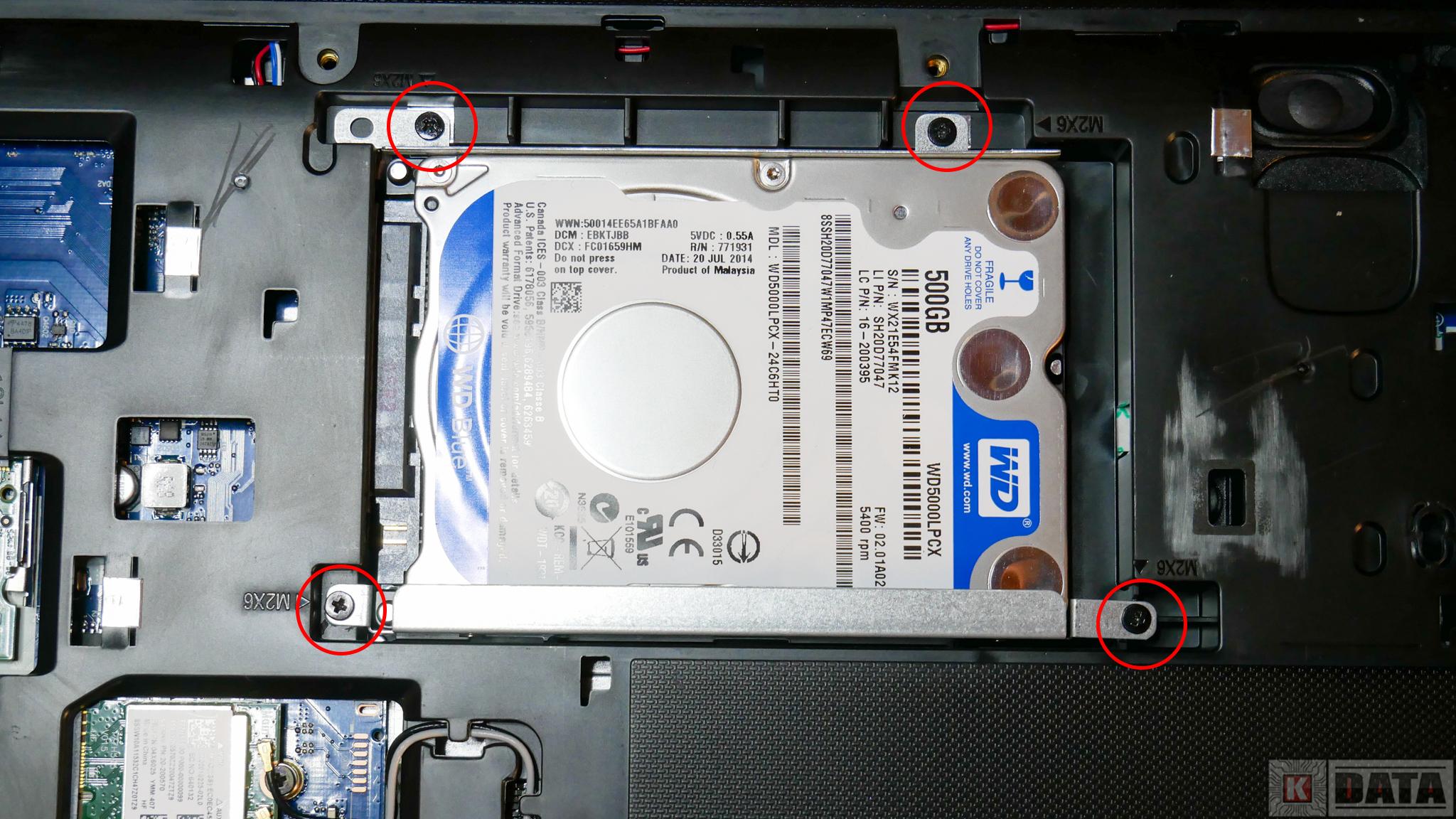 Lenovo Ideapad G50-30 śruby mocujące dysk