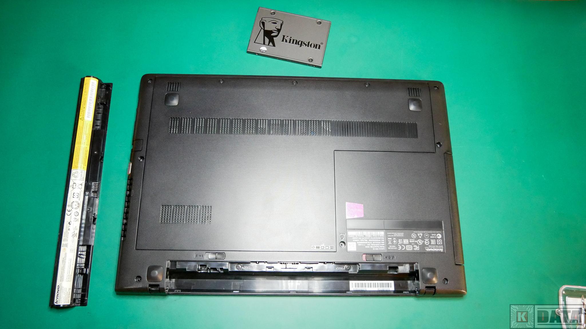 Lenovo Ideapad G50-30 wyjęta bateria